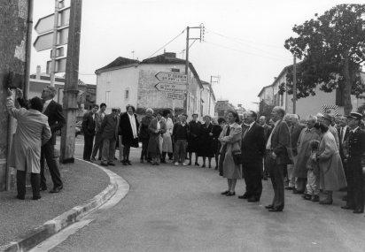 Duras Inauguration rue de Landerrouat 1992