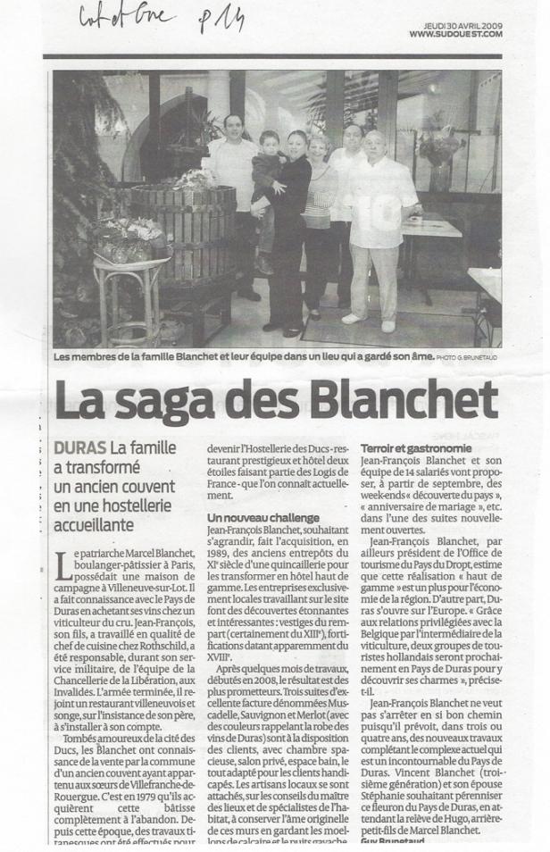 La Saga des Blanchet